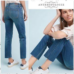 Anthropologie Pilcro Slim Straight Raw Hem Jean 29